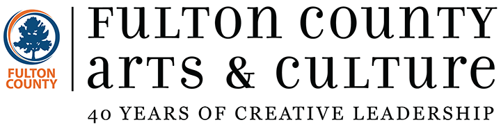 Fulton County Arts and Culture - 40 years of creative leadership logo
